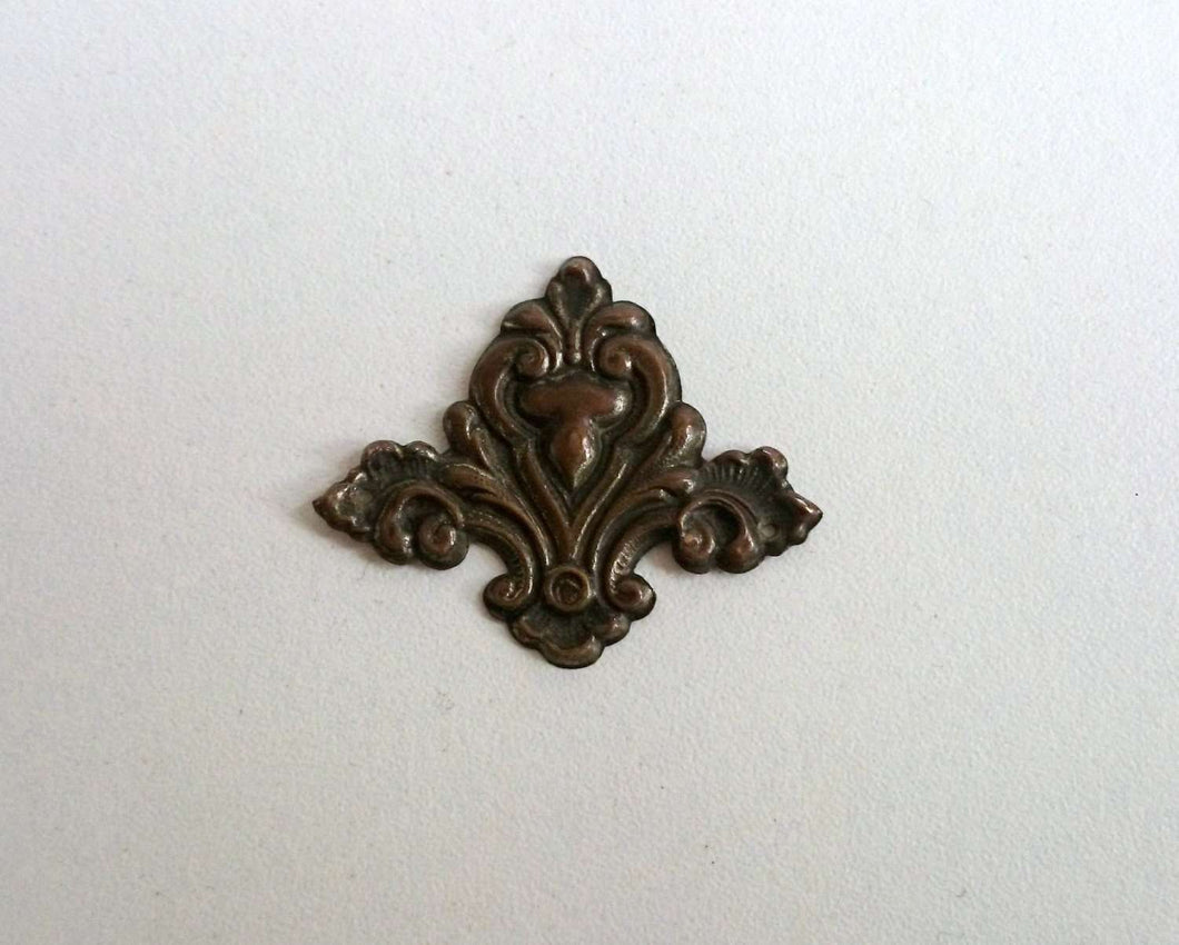 UpperDutch:Hooks and Hardware,1 Authentic Stamped Copper Art Nouveau Ornament / Decoration Stamping