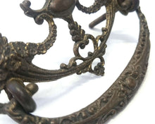 UpperDutch:Hooks and Hardware,Antique Solid brass Ornate Floral Drawer Handle / Drawer Drop Pull with flowers