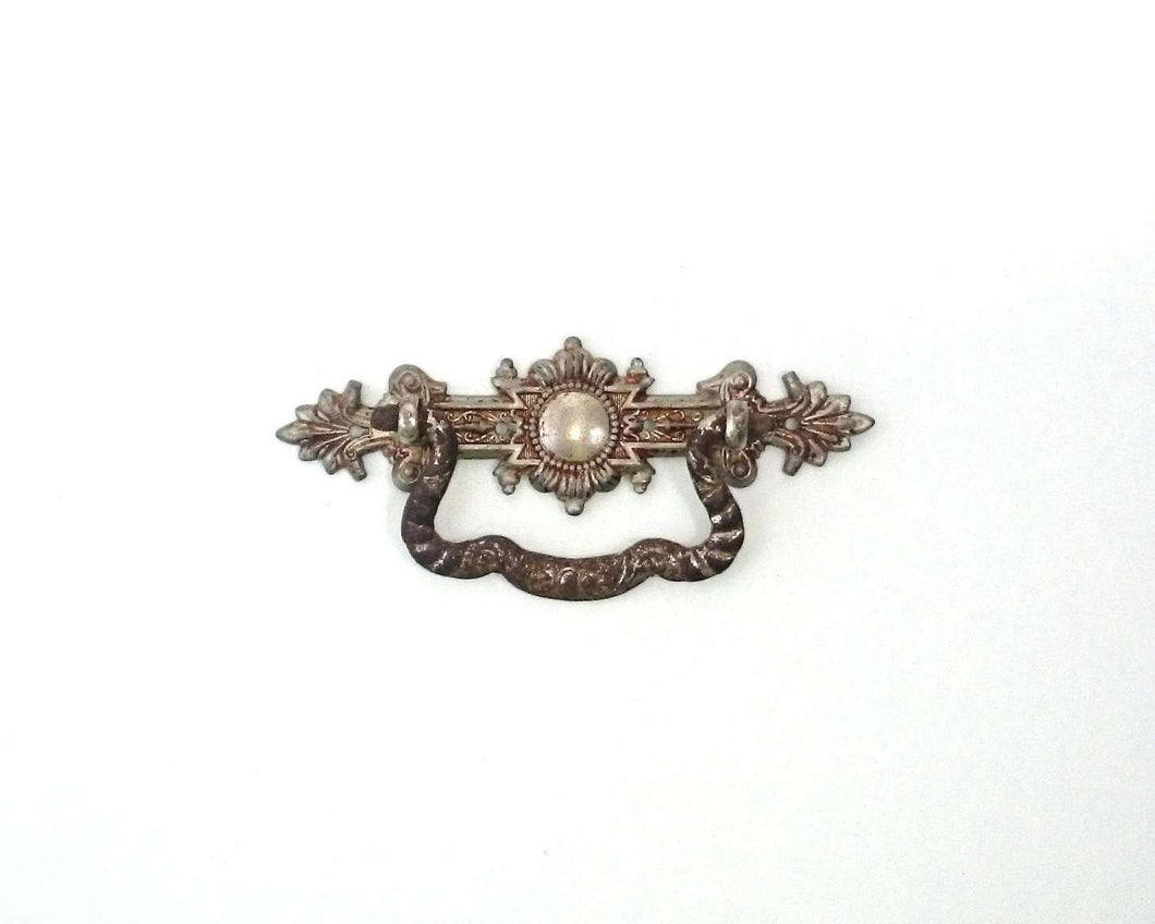 UpperDutch:Hooks and Hardware,Drawer Handle / Authentic Shabby Antique Drawer Handle / Drop pull