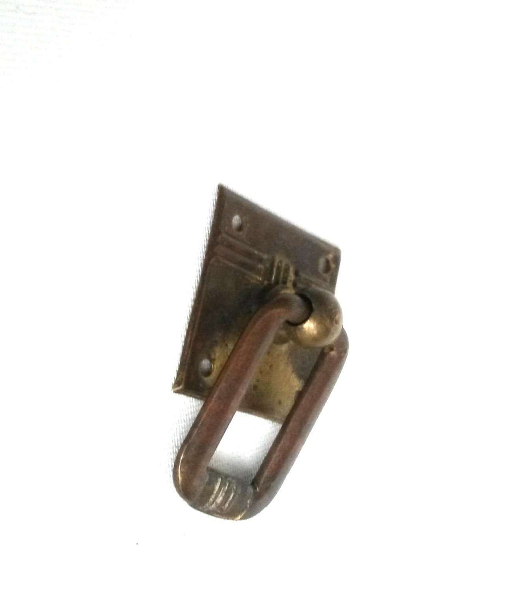 UpperDutch:Hooks and Hardware,Small brass Hanging Drawer Drop Pull / Door Handle