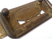 UpperDutch:Hooks and Hardware,Authentic Brass Antique Drawer Handle / Old hardware / Escutcheon / Drop pull