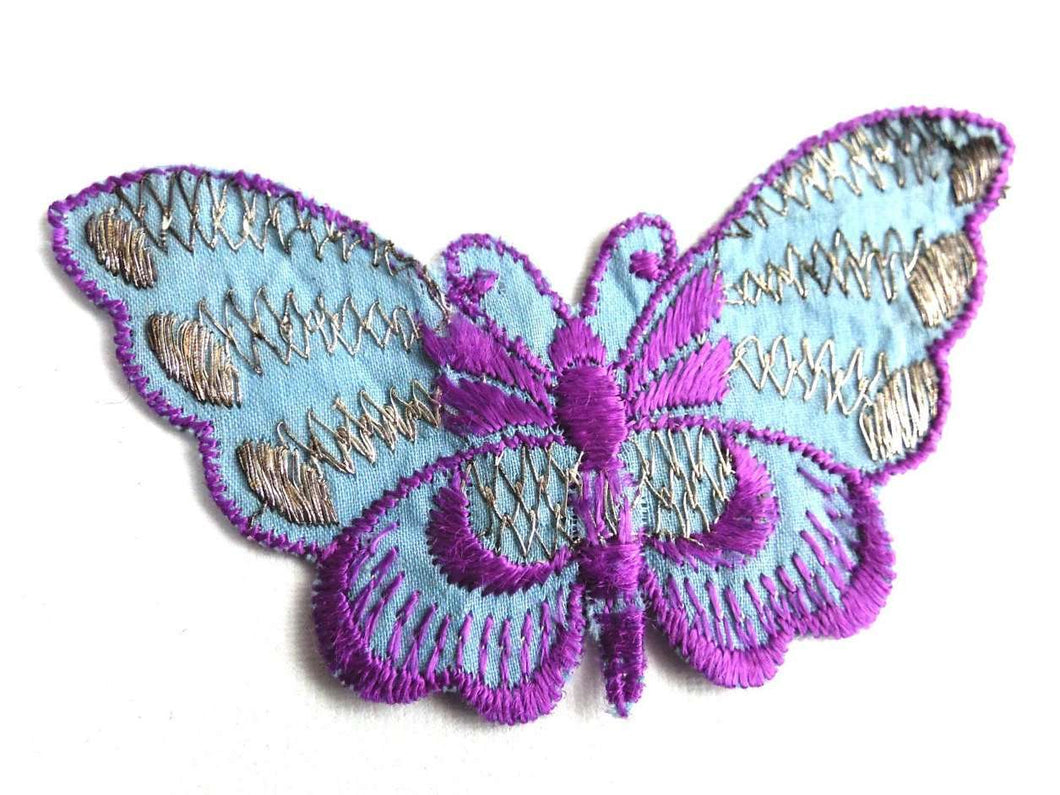 UpperDutch:Sewing Supplies,Butterfly applique, 1930s vintage embroidered applique. Vintage patch, sewing supply. Applique, Crazy quilt