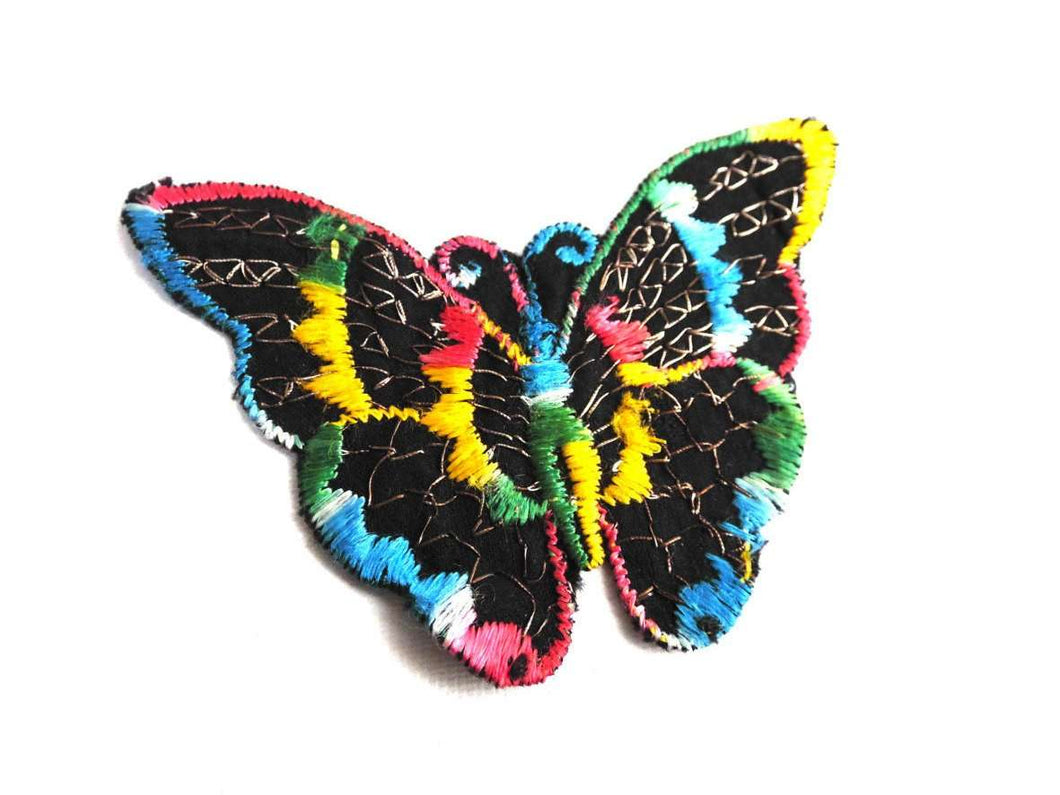 UpperDutch:Sewing Supplies,Applique,butterfly applique, 1930s vintage embroidered applique. Vintage patch, sewing supply.