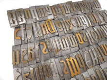 UpperDutch:Home and Decor,Letterpress Letters, Set of 90 Letterpress Letters, Beautiful German metal printing press letters, Metal Letters.