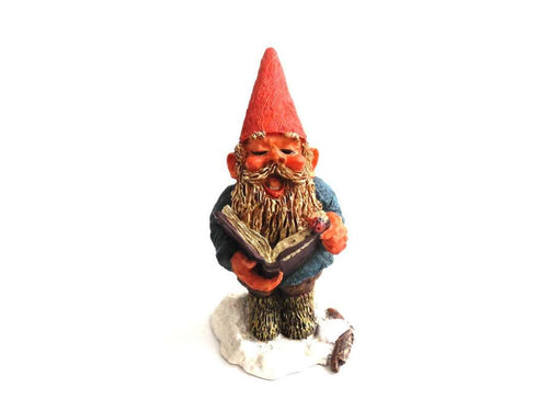 UpperDutch:Gnomes,Gnome figurine, mint condition in original box, 1994 Rien Poortvliet.