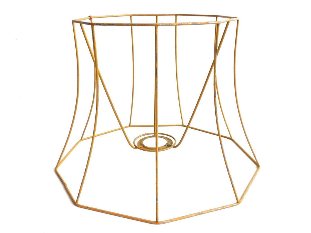 UpperDutch:Lampshade frame,Lampshade frame, wire frame, Authentic vintage lampshade wire frame, lampshade frame. Lampshade frame.