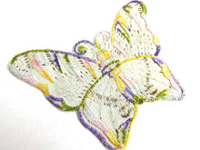 UpperDutch:Sewing Supplies,Applique, 1930s vintage embroidered butterfly applique. Vintage patch, sewing supply. Applique, Crazy quilt