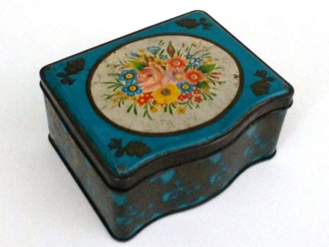 UpperDutch:Tin,Retro tin - Vintage Collectible Dutch Floral. Retro kitchen decor.