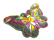 UpperDutch:Sewing Supplies,Applique. Butterfly applique, 1930s vintage embroidered applique. Vintage patch, sewing supply. Applique, Crazy quilt.