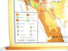 UpperDutch:School Chart,United states school chart, pull down school chart. Extraction of raw materials and export routes. US USA trades chart school.