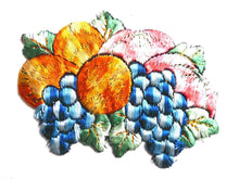 UpperDutch:Sewing Supplies,Fruit patch, Fruit basket applique, 1930s vintage embroidered applique. Vintage patch, sewing supply.