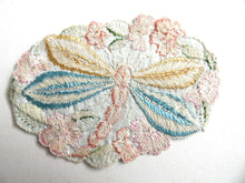 UpperDutch:Sewing Supplies,Applique, 1930s vintage embroidered dragonfly applique. Vintage patch, sewing supply. Applique, Crazy quilt