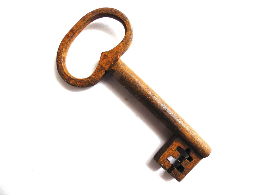 UpperDutch:Home and Decor,Skeleton Key - Authentic Beautiful antique key / skeleton key, rusty, rustic key.