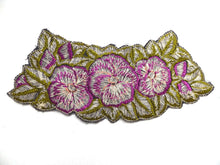 UpperDutch:Sewing Supplies,Floral Trim Applique, 1930s embroidered applique. Vintage patch, sewing supply.