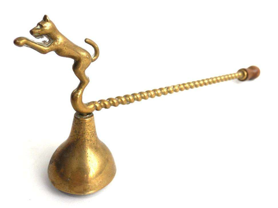UpperDutch:Candle Snuffers,Candle Snuffer - Brass Candle Snuffer with dog - Antique Candle Snuffer.