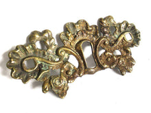 UpperDutch:Keyhole cover,Antique Brass Keyhole cover, escutcheon. Shabby / distressed keyhole frame plate, floral. Furniture hardware.