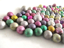UpperDutch:Marbles,Antique Marbles, Mix of 100 Very Small Rare Clay Marbles, mixed colors. Colored Jewelry supply.