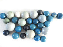 UpperDutch:Marbles,Marbles, Set of 30 Blue Antique Clay Marbles