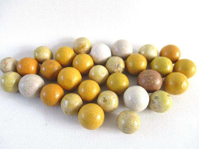 UpperDutch:Marbles,Set of 30 Antique Clay Marbles, Antique marbles.