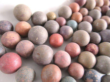 UpperDutch:Marbles,Set of 75 Antique Clay Marbles, old marbles.