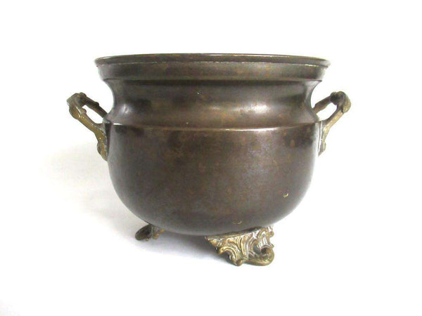 UpperDutch:Planter,Brass planter, Copper Pot, Antique Copper Planter, flower pot.