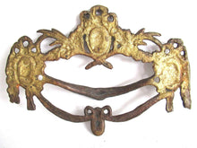 UpperDutch:Drawer handle,1 (ONE) Antique Drawer Handle. Ornamental Furniture Applique. Drawer embellishment. Authentic 19th century hardware.
