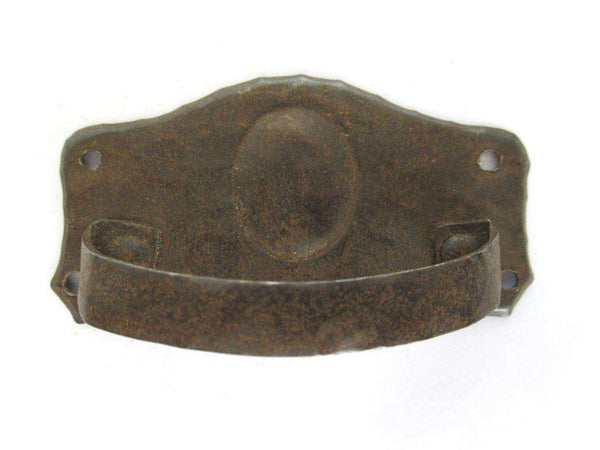 UpperDutch:Pull,Antique Shabby Cabinet Drawer Pull, Distressed Handle / Escutcheon.