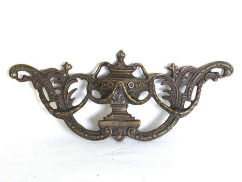 UpperDutch:Pull,Brass furniture ornament, 18th/19th century. Cabinet decoration.Antique hardware,bronze applique,restoration hardware. Empire