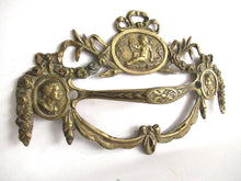 UpperDutch:,Stunning Set of 2 Antique Brass Drawer Handles. Ornamental Furniture Appliques. Cherub, Putti embellishment. Restoration hardware