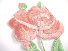 UpperDutch:,An Antique Silk Pink Flower Applique 1930s Embroidery Vintage floral patch, sewing supply.