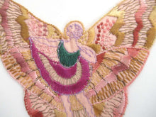 UpperDutch:,Antique Fairy Applique, butterfly applique, 1930s embroidered applique. Vintage patch, sewing supply, crazy quilt, antique.