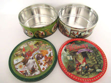 UpperDutch:Tin,Rien Poortvliet Set of 2 Round Storage Tin. Metal box. David the gnome.