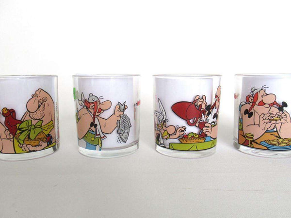 UpperDutch:,Ferrero Nutella Drinking Glasses, Asterix and Obelix.