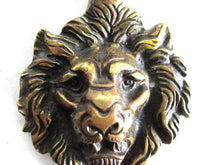 UpperDutch:Wall hook,1 (ONE) Antique Solid Brass Lion Head Coat hook - Wall hook, Made in England.