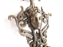 UpperDutch:Hooks and Hardware,Antique Solid Brass Victorian Style Coat hook, Woman, Angel Wall hook, made in Italy.