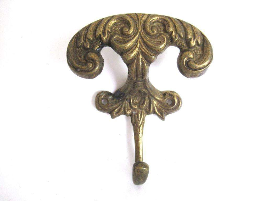 UpperDutch:Wall hook,Ornate Wall hook, Coat hook, Solid Brass Victorian Style hook made in Italy, Coat rack supply, storage supply.