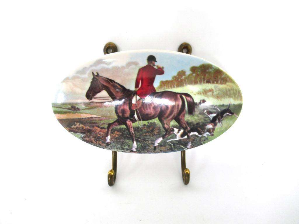 UpperDutch:Wall hook,Vintage Wall hook, Horse, Equestrian Coat Hook.