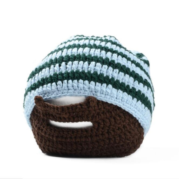 Best Seller Warm Winter Women Men Fashion Punk Knit Crochet Beard Hat Beanie  - KjSelections