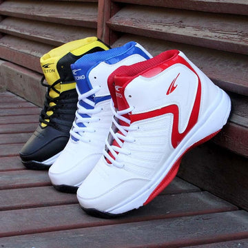 Mens High top Basketball Shoes Cushioning Sneakers Breathable