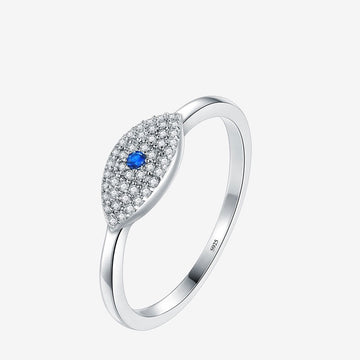 Cubic Zirconia Blue Eye Lucky Finger Rings For Women