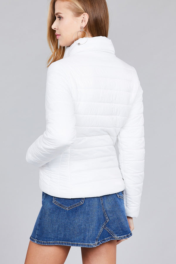 Long Sleeve Quilted Padding Jacket  - KjSelections