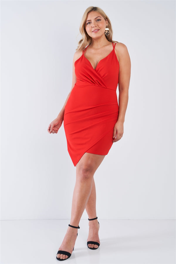 Plus Size Tie Back Wrap Dress  - KjSelections