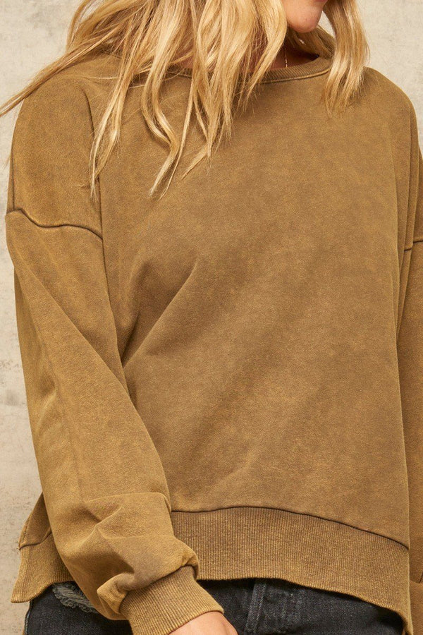 A Mineral Wash Knit Sweater  - KjSelections