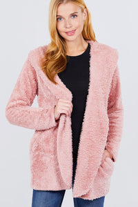 Hoodie Faux Fluffy Jacket  - KjSelections