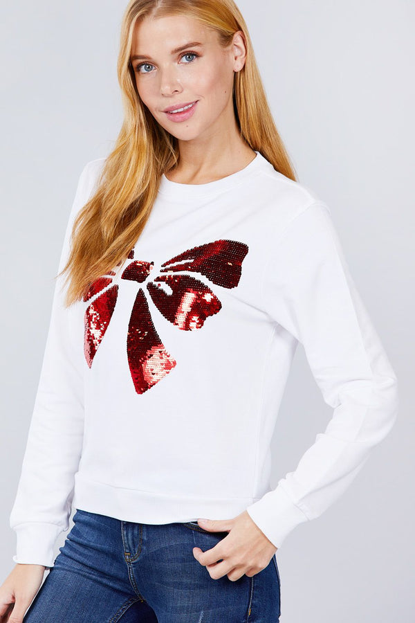 Sequins Embroidered Pullover  - KjSelections
