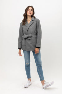 Fleece Belted Coat  - KjSelections
