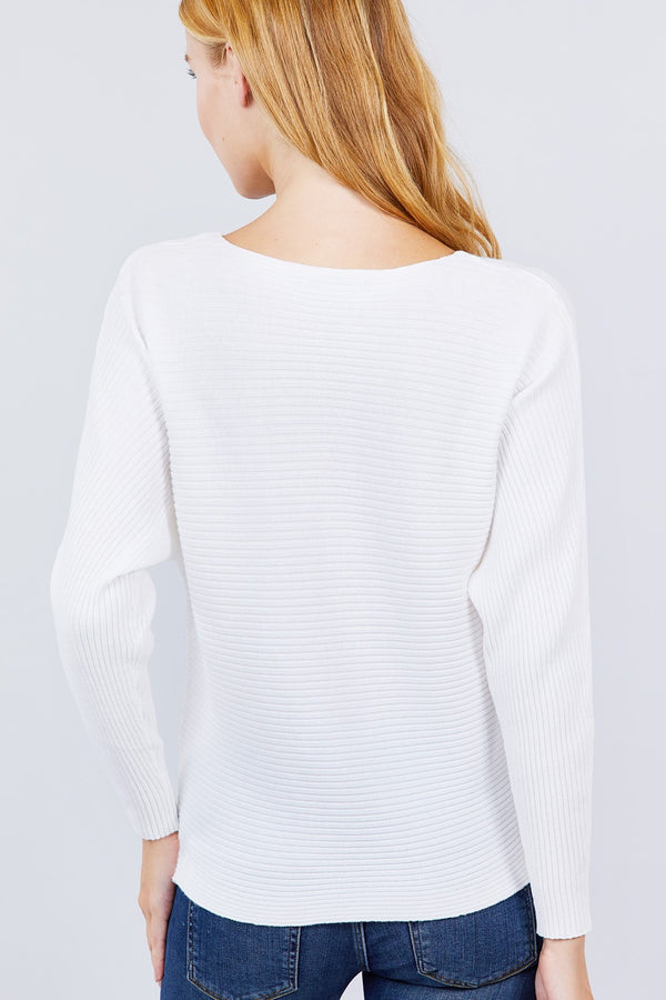Dolman Boat Neck Sweater  - KjSelections
