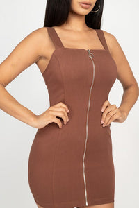 Front Zip Mini Dress  - KjSelections