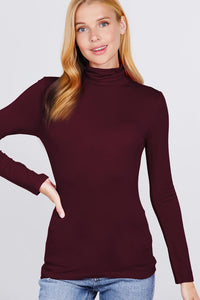 Turtle Neck Rayon Jersey Top  - KjSelections