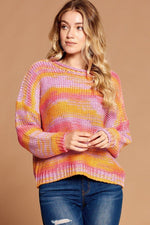Multi-color Thread Striped Knit Sweater  - KjSelections